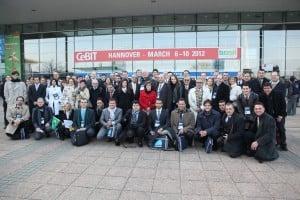 Turma da Missão Prospectiva à Feira CeBIT 2012