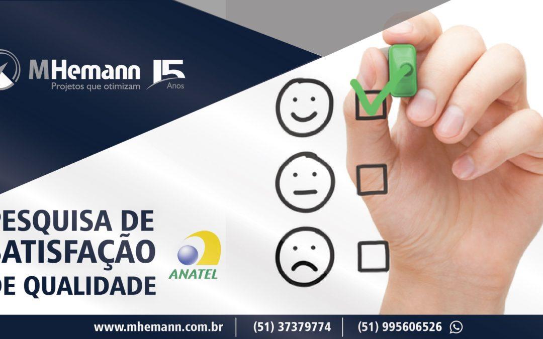 Pesquisa de Satisfação para Consumidores de Telecomunicações está aberta até Novembro pela Anatel