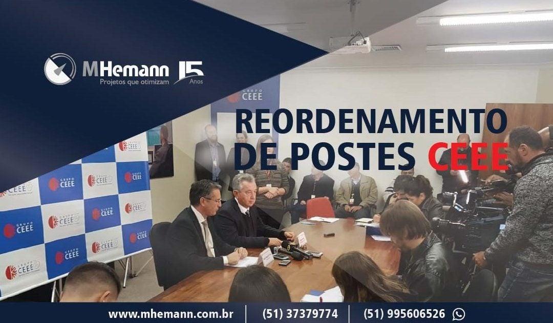 Reordenamento de Postes da CEEE inicia Projeto Piloto em setembro no Rio Grande do Sul