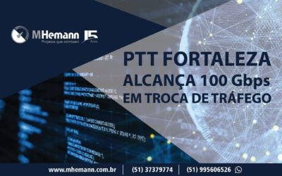 PTT Fortaleza alcança pico de 100Gbps de troca de tráfego. IX desponta como maior Ponto do Nordeste e ganha destaque no país